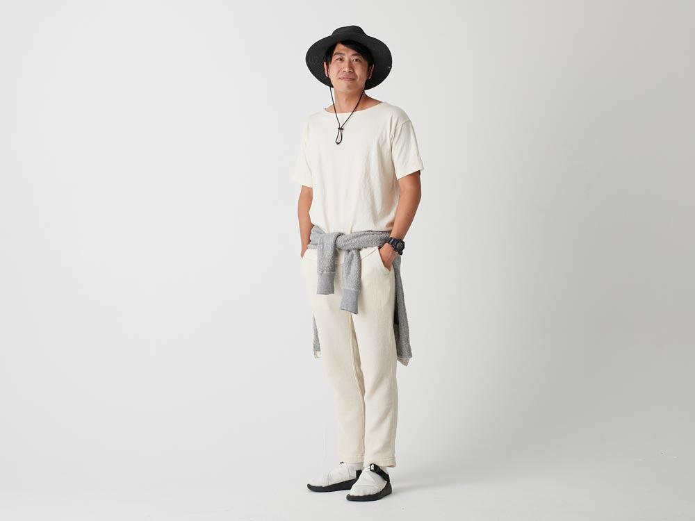 オーガニックワイドティーシャツ S ネイビー