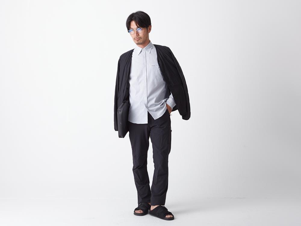 ドライ&ストレッチコンフォートトリップシャツ/ロング M ホワイト