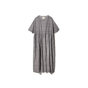 Hand-woven Cotton Gathered Dress 2 SUMI