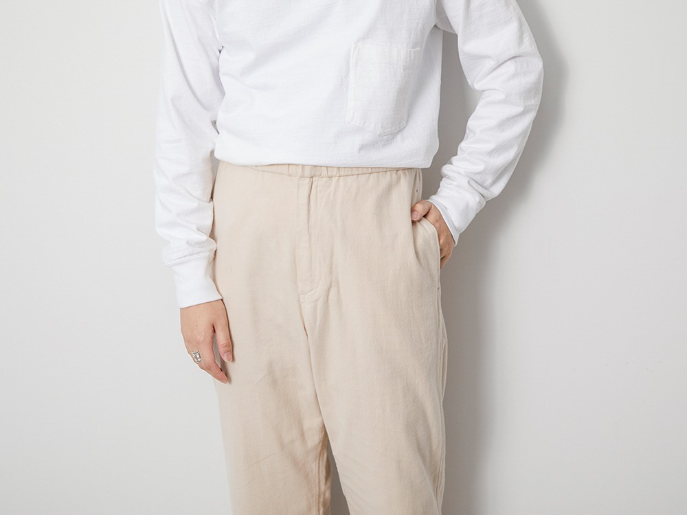 Organic Cotton Suede Easy Pants 1 BK