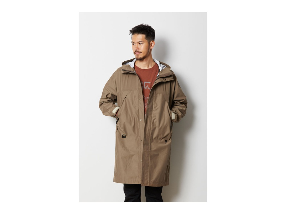 FR 3L Rain Coat L Brown