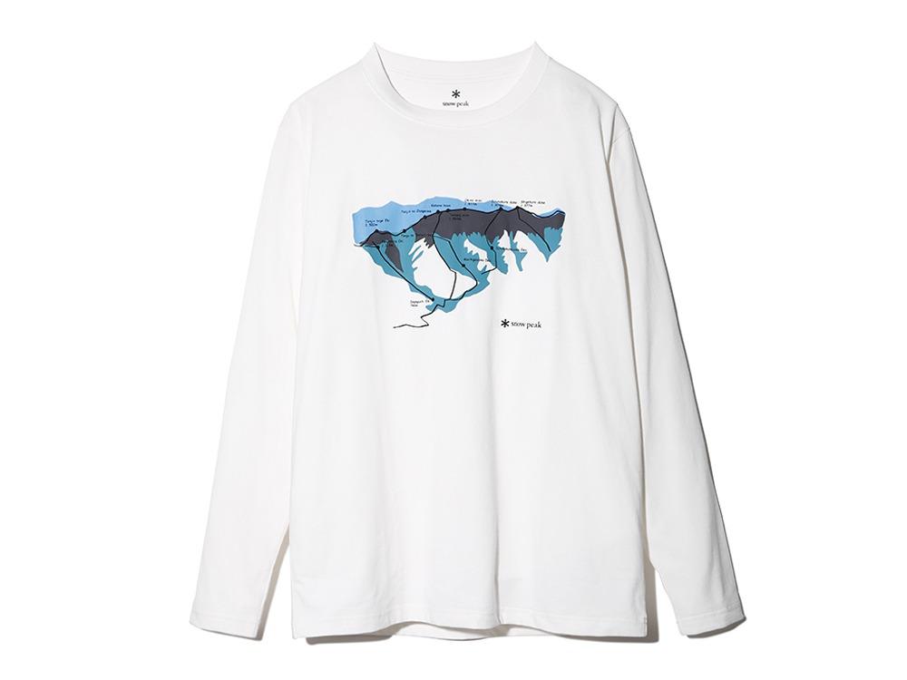 Printed L/S Tshirt Tanigawa M White