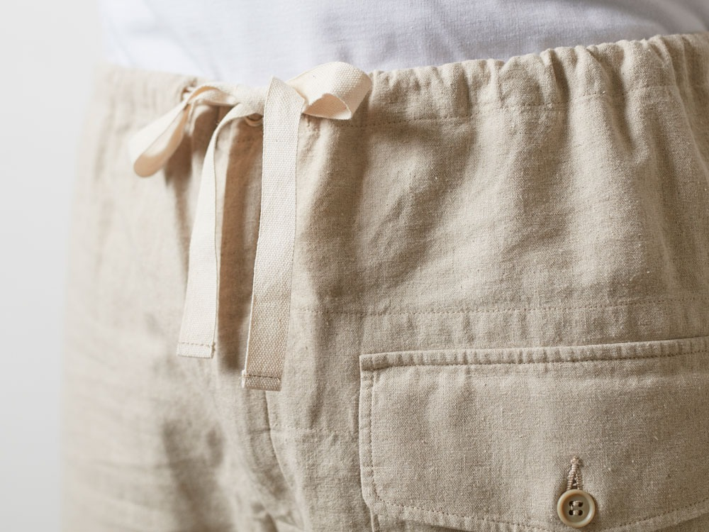 Safari Linen Pants M Beige7