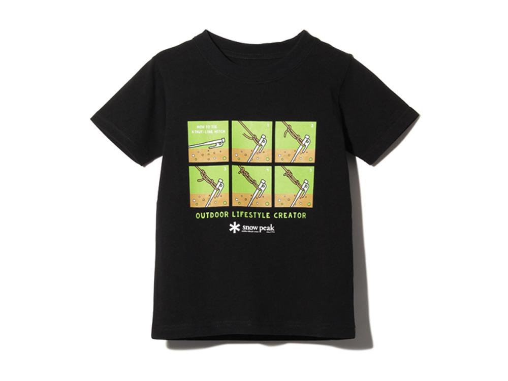 キッズ トートラインヒッチ Tシャツ 1 ブラック