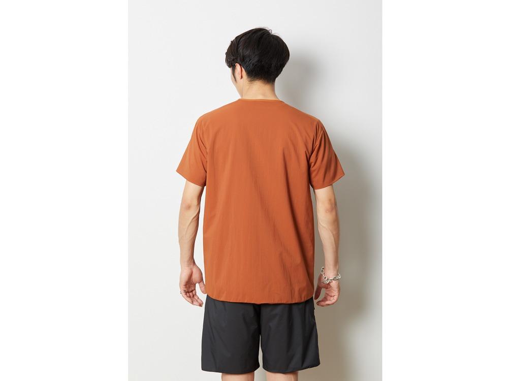 2レイヤー オクタ プルオーバーTシャツ M オレンジ