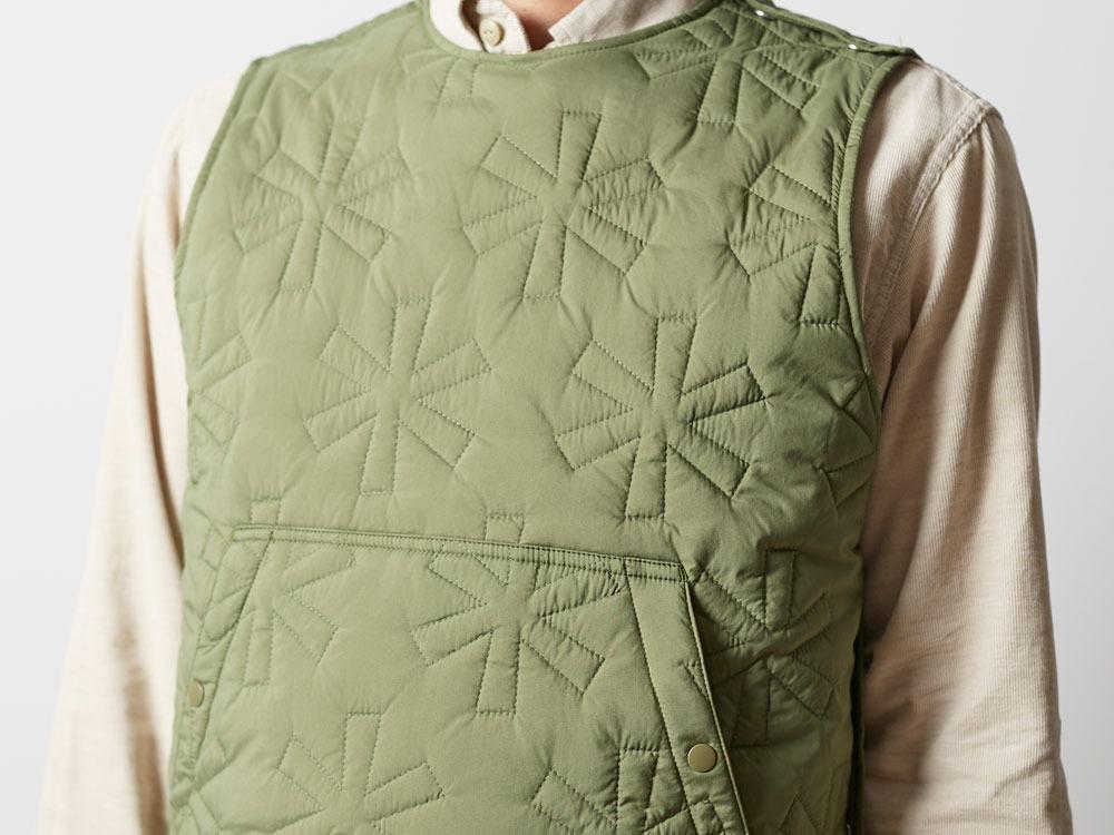 Quilting puff Vest 2 Olive6
