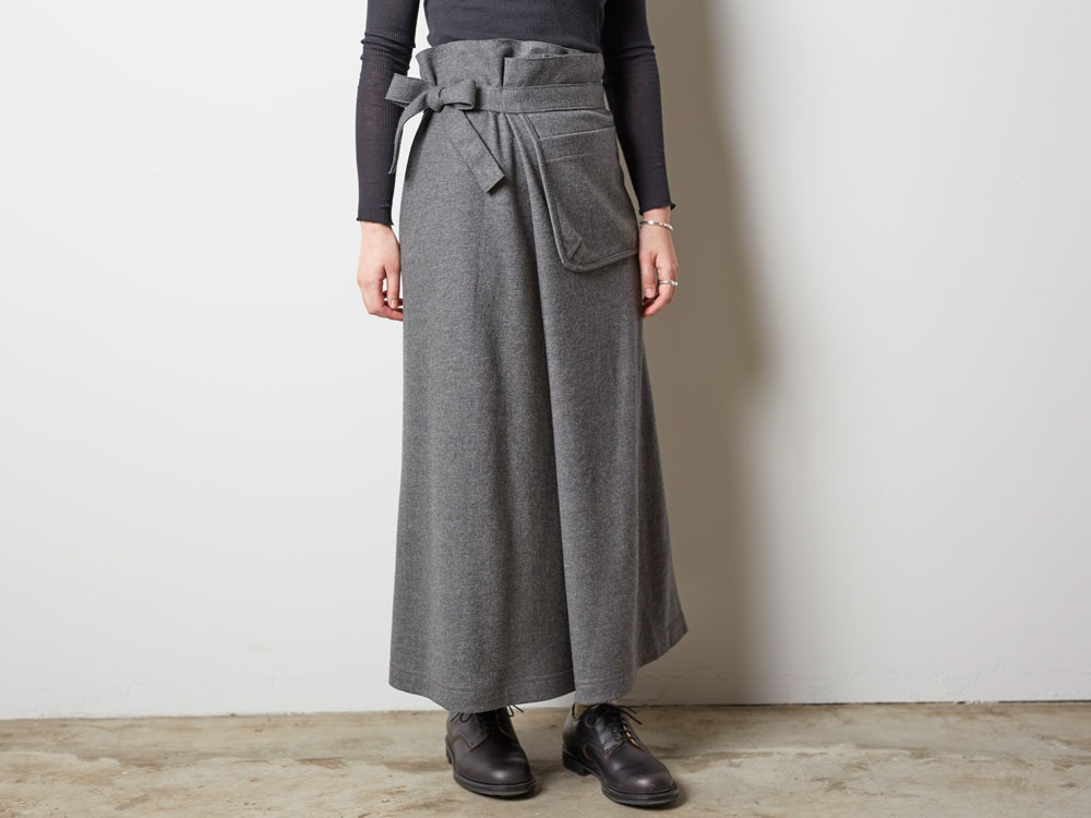 Wool Tight Knit Skirt 3 Grey8