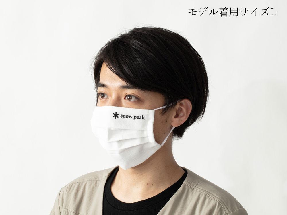手ぬぐいマスク「Snow Peak Tenugui Mask」 L White-Black