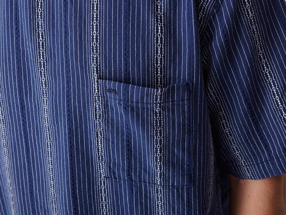 Dobby Striped Pullover M Navy4