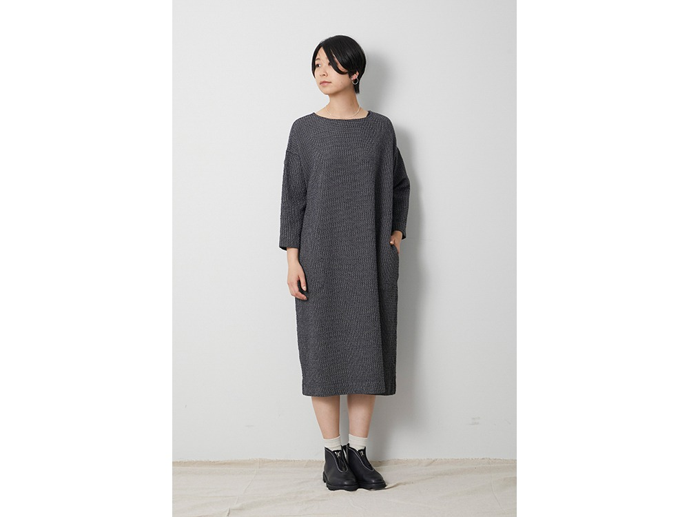 W/R Gingham Check Dress 1 Charcoal