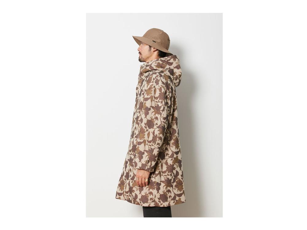 Printed Wo/Ny Coat L Beige
