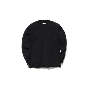 Wool Linen/Pe Crewneck Long Sleeve S BK