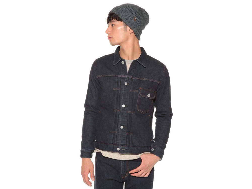 Pile Denim Jacket S Hard Wash2