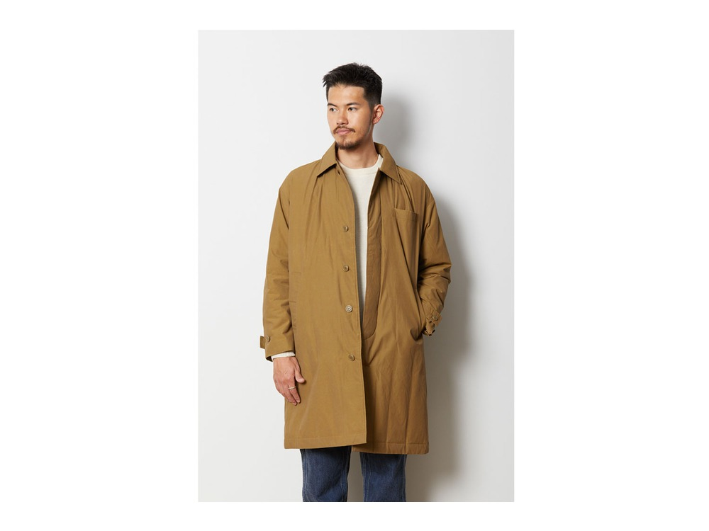 Waxed C/N Down Coat M Black