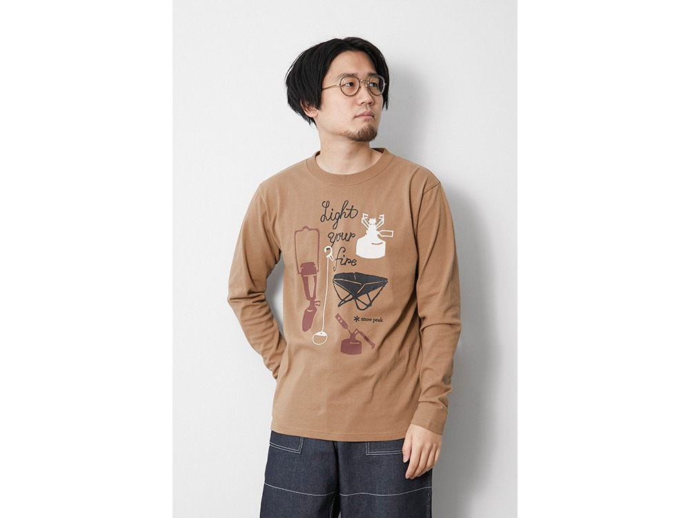 Light your Fire L/S Tee M Brown