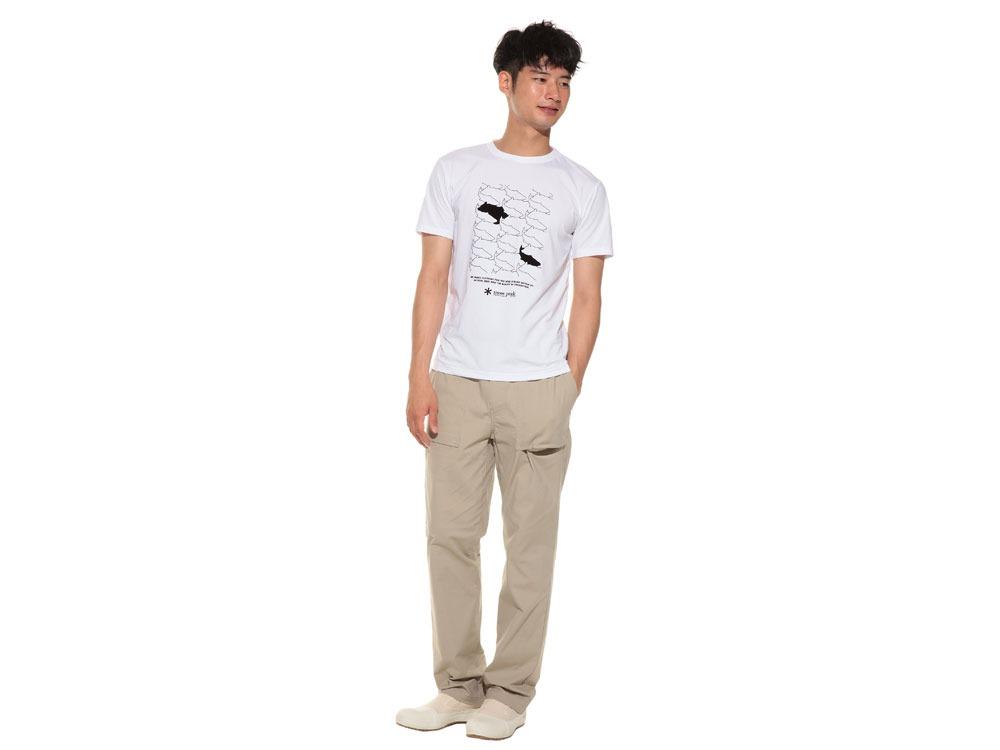 Natural Trompe I'oeil Tshirt L White1