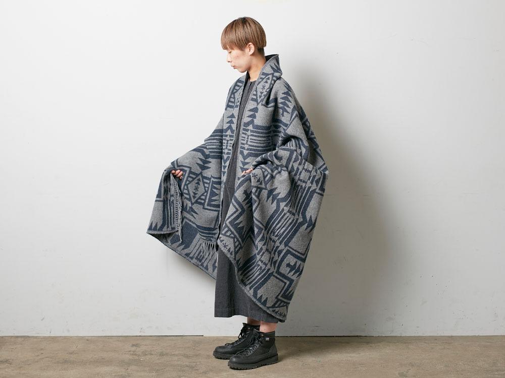 Shetland Wool JQ Blanket Beige1
