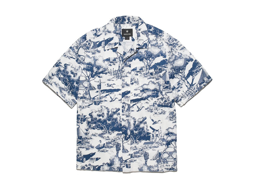 Camp Aloha Shirt S White0