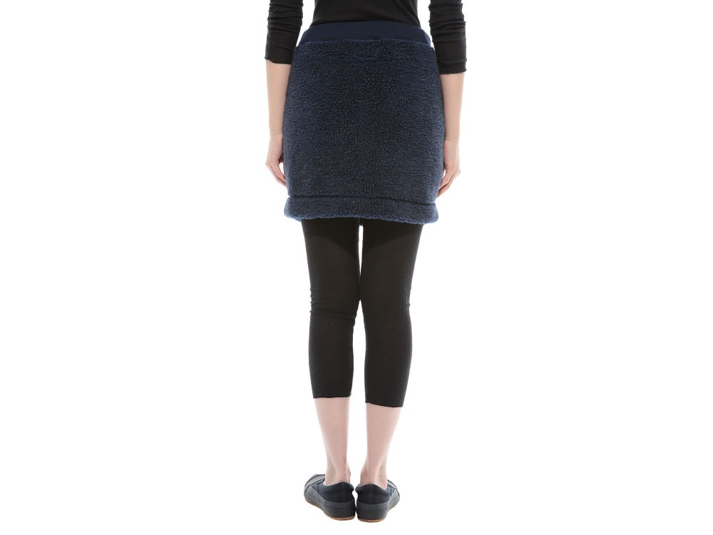 Soft Wool Fleece Skirt 4 Charcoal4