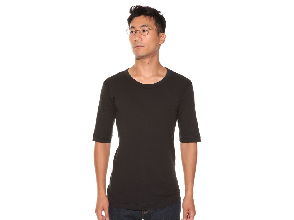 Ultimate Pima Double Knit Half Sleeve S Black2