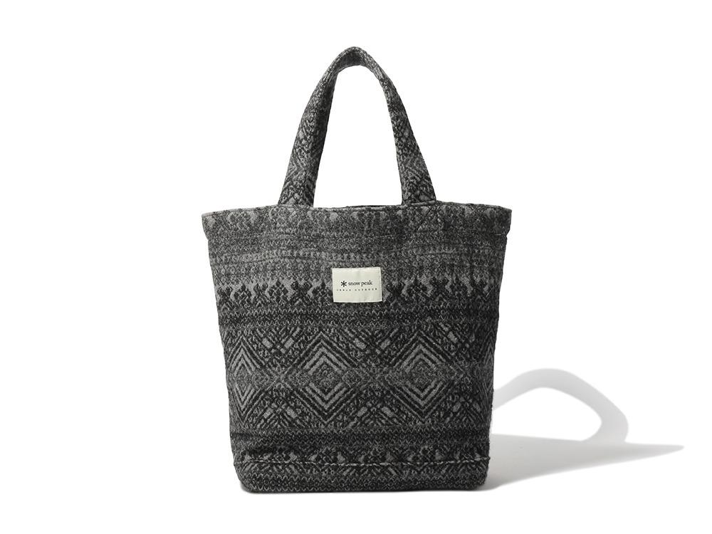 Shetland Cotton JQ Tote Bag One Grey