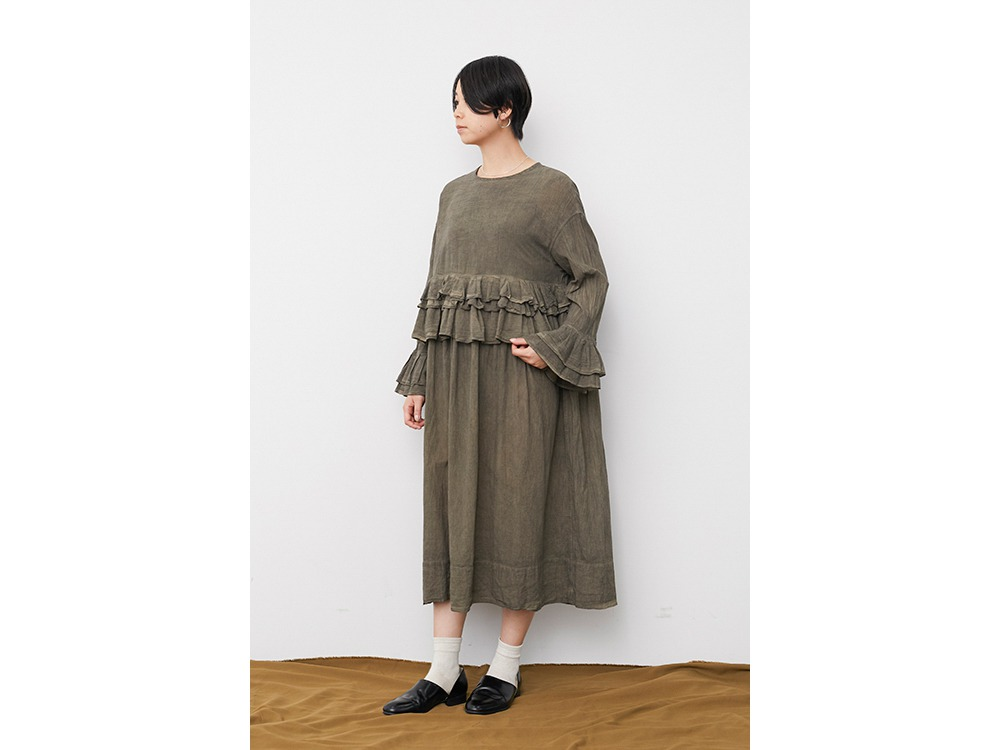 OG Cotton Pleated Dress 1 Ecru