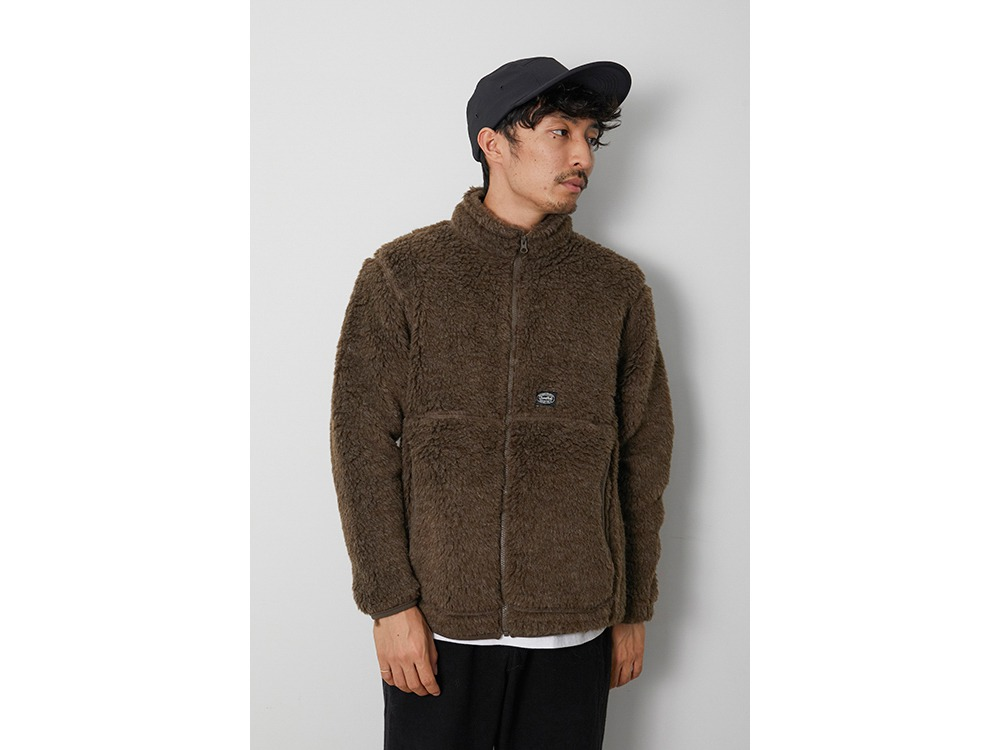 Wool Fleece Jacket L Olive