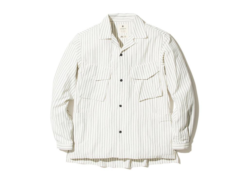 TAKIBI Shirt L EcruNavy