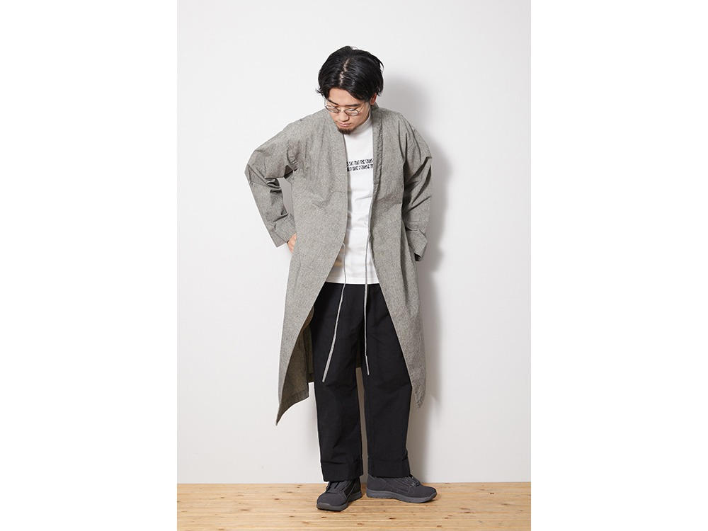 NORAGI Long Jacket M EcruBlack
