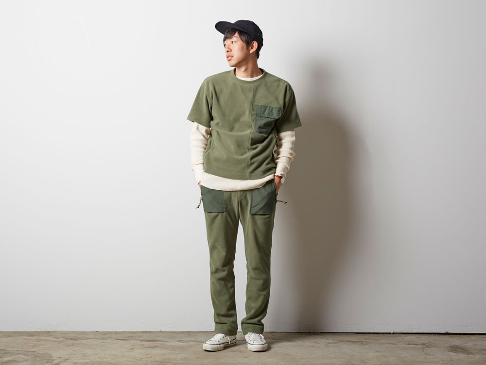 R/Pe Fleece Tshirt 2 Olive1