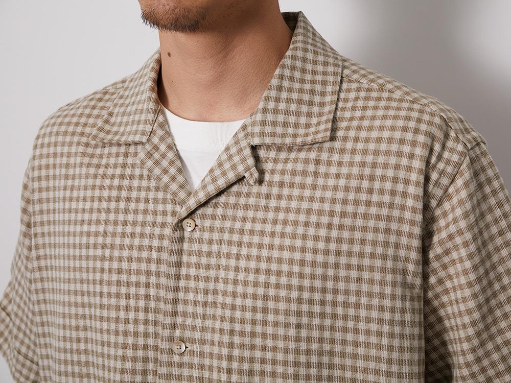 C/L Panama Shirt M BeigeCheck