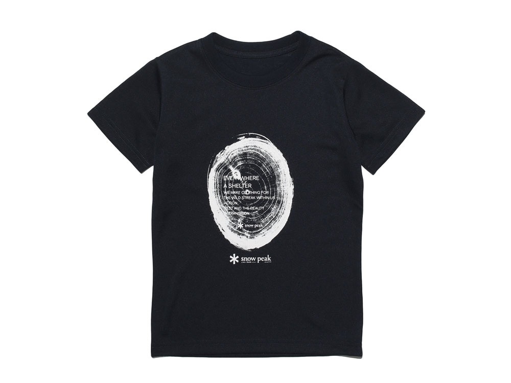 Kid's Printed Tshirt:Woodcut 2 Navy0