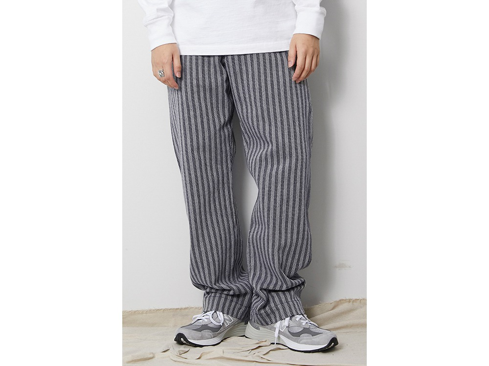 Cotton Herringbone Stripe Wide PT 1 BG