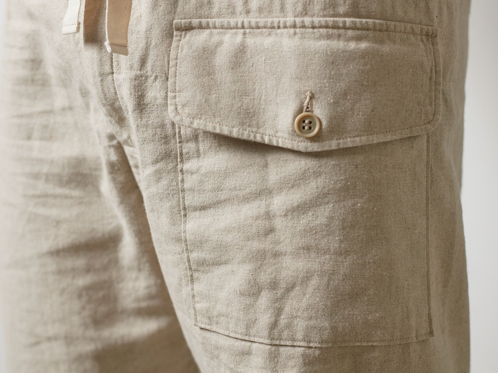 Safari Linen Pants M Beige5