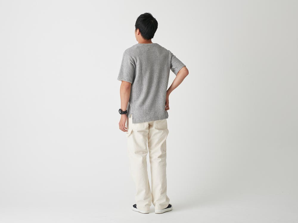 Long Loop Sweat T-Shirt S White3