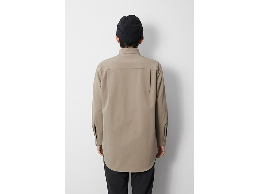 Nylon Power Wool Long Shirt M Olive