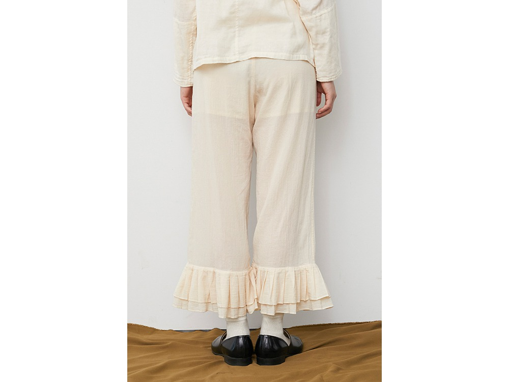 OG Cotton Pleated Pants 1 Ecru