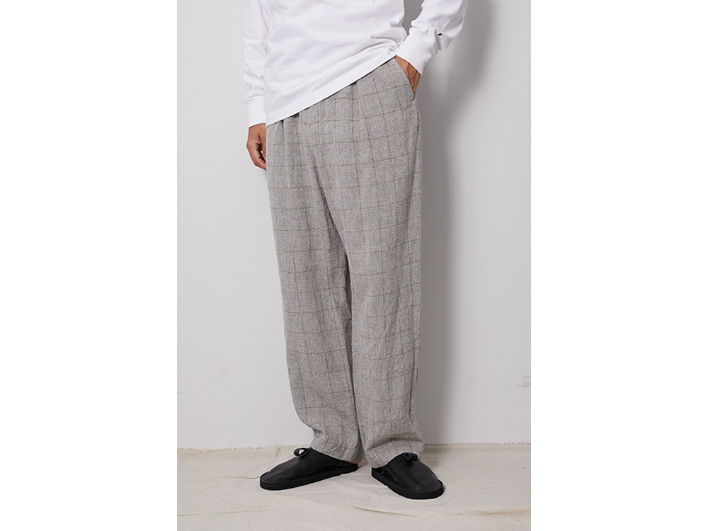 C/L Check Tweed Pants M Navy