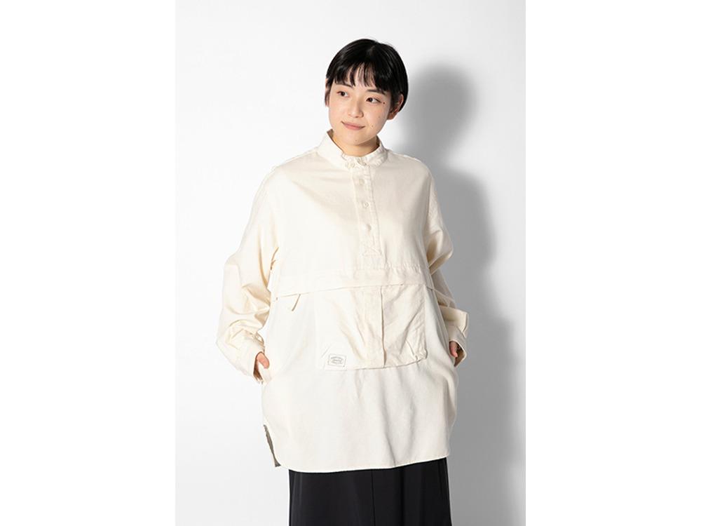 TAKIBI Light Denim Utility Pullover MIndigo