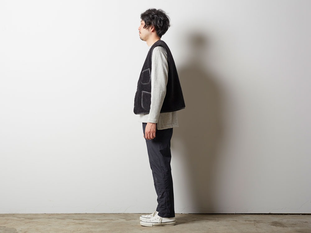 Wool Military Lining Vest M Brown2