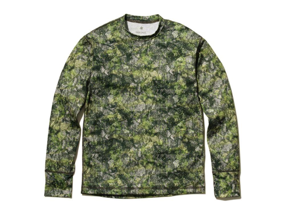 プリント インセクトシールド ロングスリーブ Tシャツ M グリーン