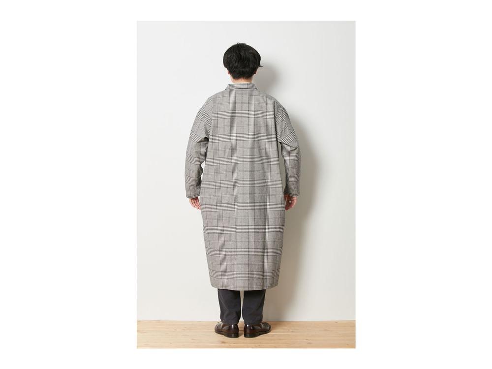 ナシジ ロングシャツジャケット グレンチェック  L ECBK