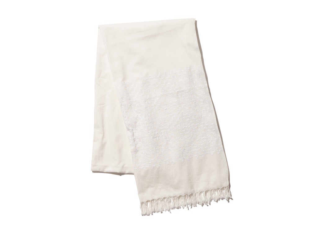 Cotton Khadi Stole 1 Ecru