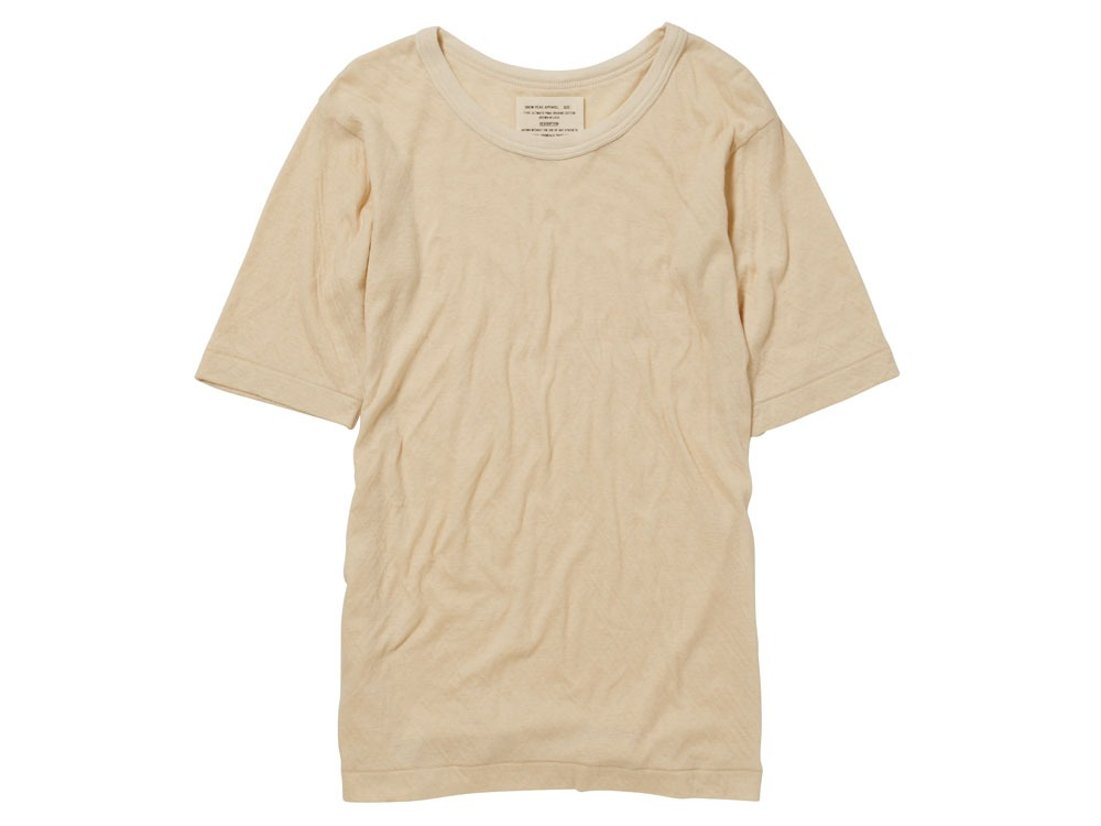 Ultimate Pima Double Knit Half Sleeve M Natural0
