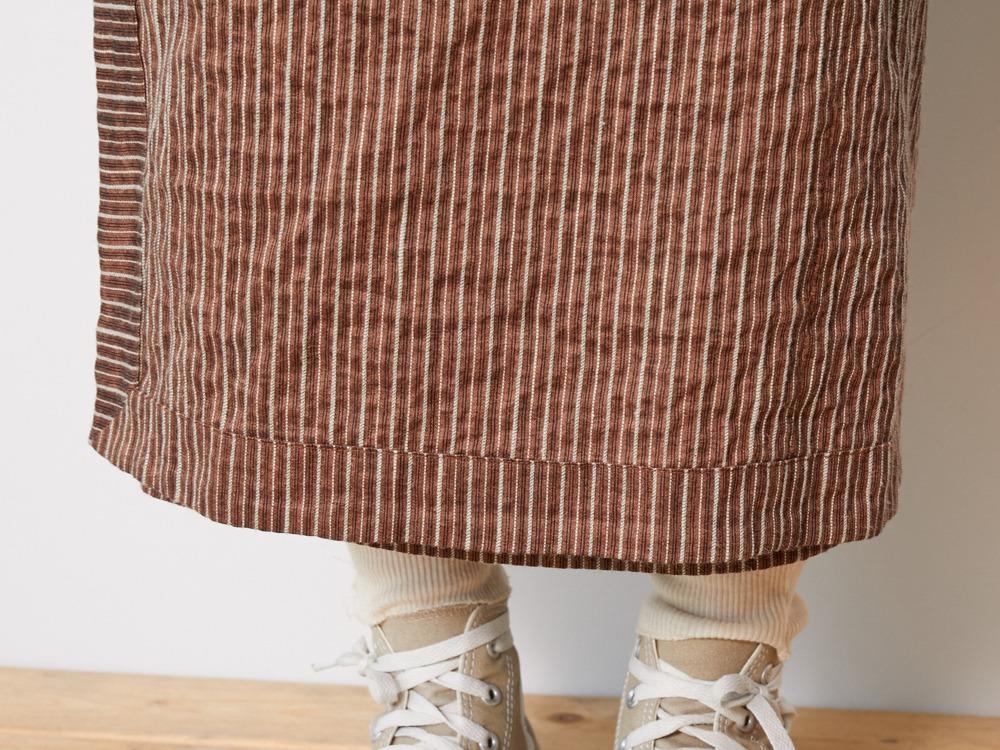 C/R Light Stripe Dress 1 Orange