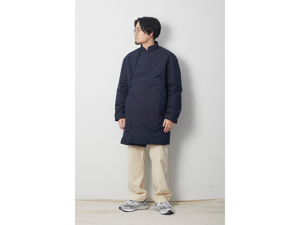 Indigo C/N Down Coat 1 Indigo