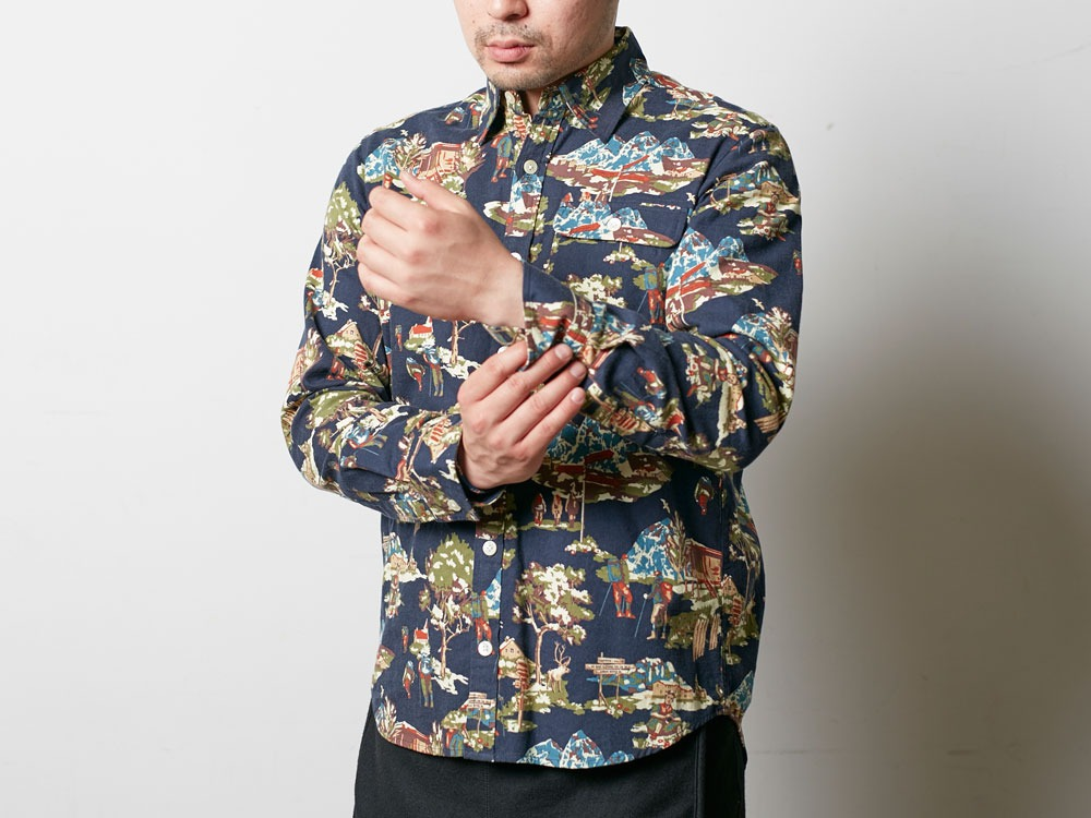 Mountain Printed Shirt 2 Navy5