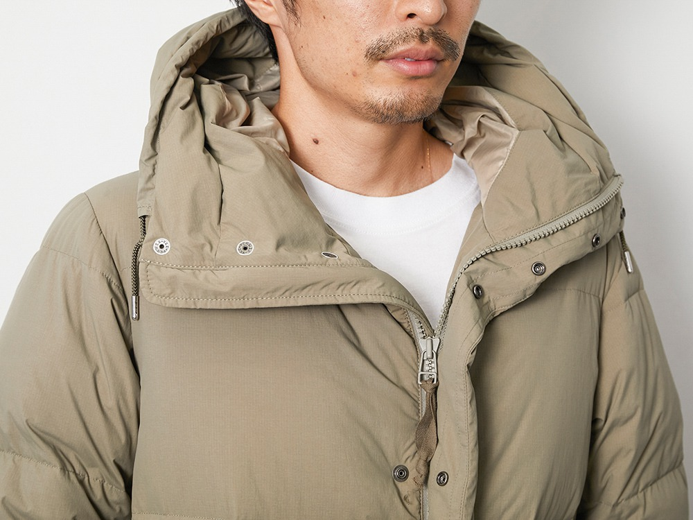 Recycled Ny Ripstop Down Coat L Beige