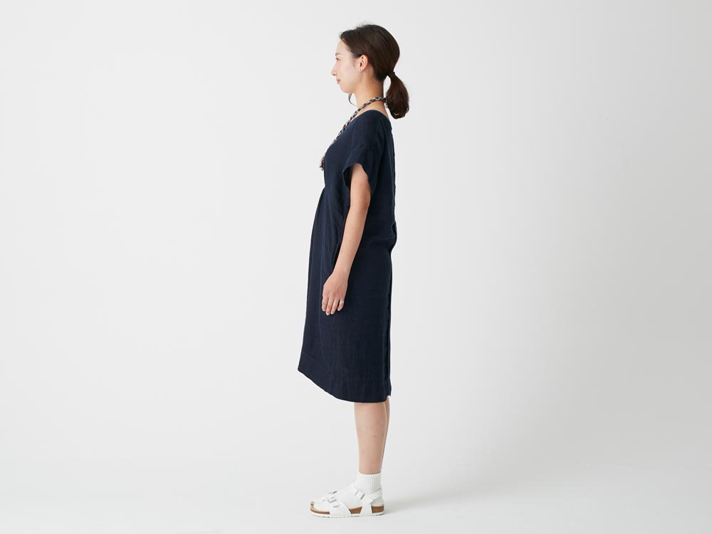 Linen Waffle Dress 3 Natural2