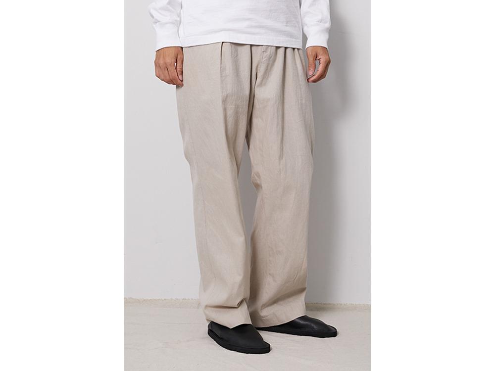 C/L Panama Easy Pants M BeigeCheck